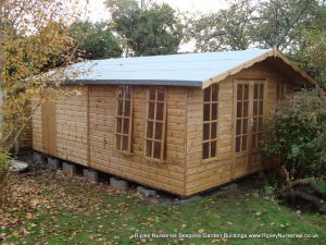 Petersham 12x18 bespoke combined Shed.