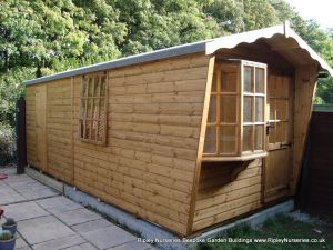 Puttenham Bay Cabin Bespoke 7x18 with Partitioned rear Shed Compartment.