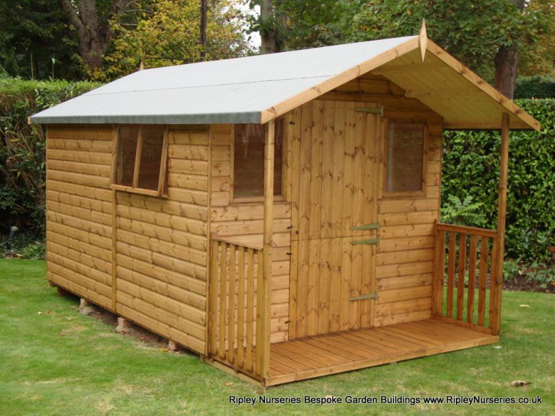 Deluxe Apex Bespoke 12x8, with 2'6 Verandah, Stable Door.