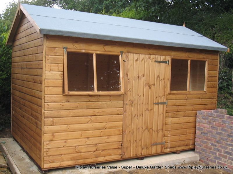Deluxe Apex 12x9, Extra Height with Door and Windows under eaves.