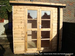 Deluxe Pent 7x5, Richmond Doors & Guttering.