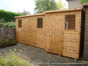 Super Pent 10x3 with Double Doors and 6x5 Super Pent.