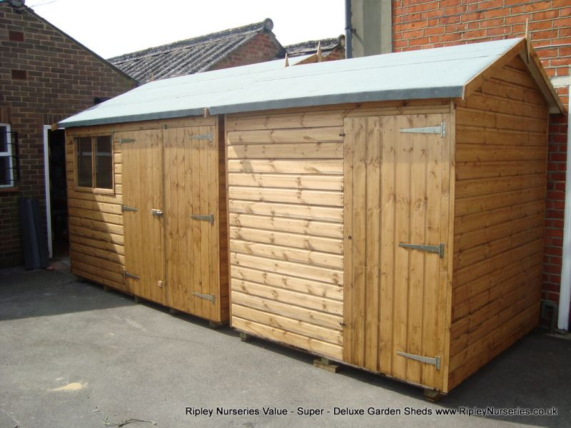 Deluxe Apex 10x9 with Double Doors and 7x7 Deluxe Apex with No Window.