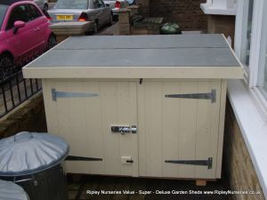 Tool Shed 4x3, reduced height, double doors in Low Side, Painted Finish.