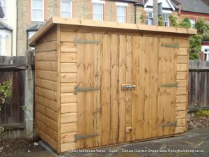Tool Shed 6x3 with Double Doors in High Side.