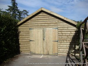 Heavy Duty Workshop 20x19, Double Garage Doors, Featheredge Cladding.
