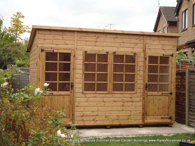 Deluxe Pent Bespoke 12x8, Extra Height and Tilford Windows and Doors.