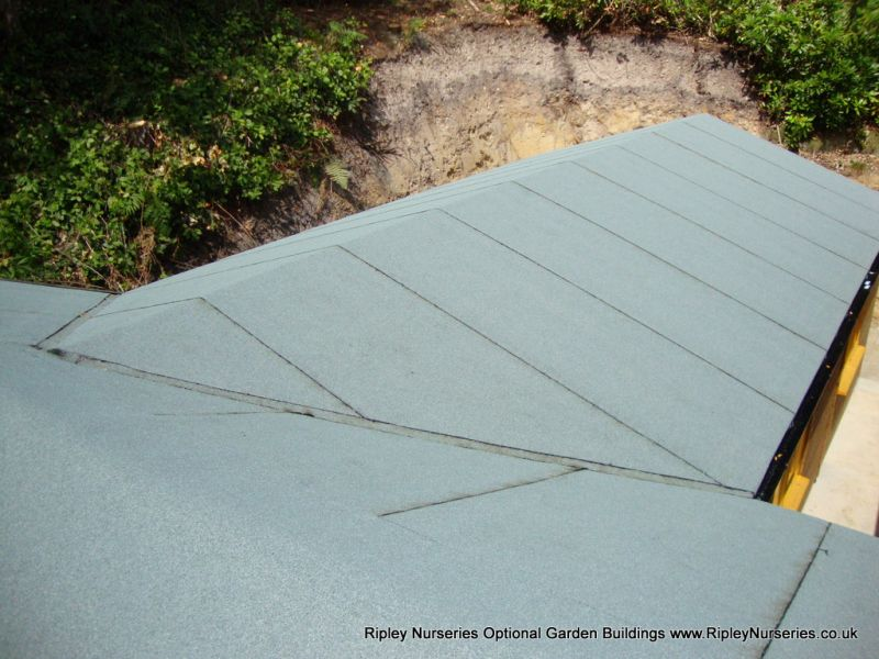 Hipped Roof with Heavy Torch-On Felt.