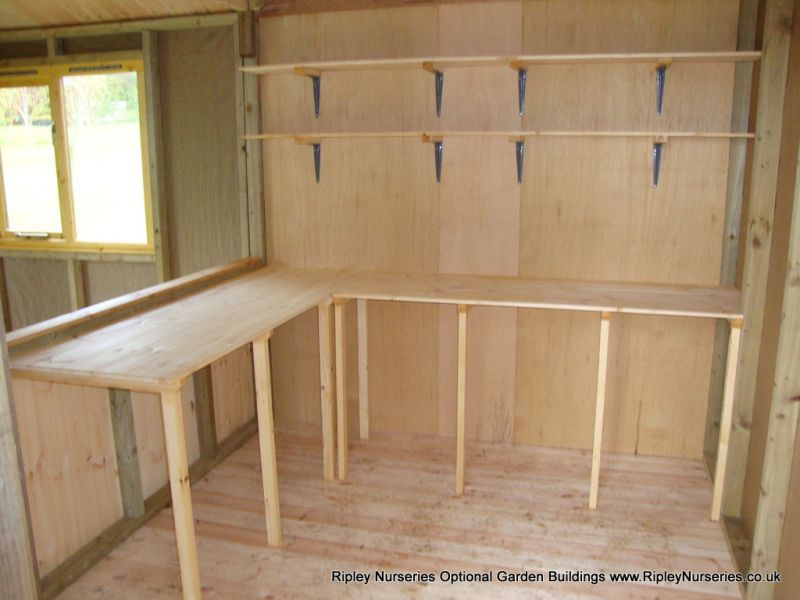 T&G Benches and Shelving.